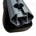 Střešní nosič - příčníky 135cm Menabo Dozer XL uzamykatelné aluminium