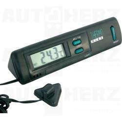Teploměr digitální - vnitřní a venkovní teplota / hodiny / osvětlení