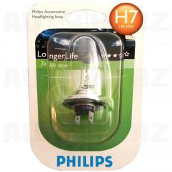 Autožárovka 12V H7 55W - Philips Long Life 3x delší životnost 1ks