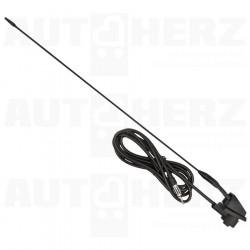 Anténa na auto střešní / autoanténa vnější sklopná - univerzální 41cm 6mm