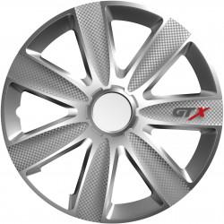 Poklice GTX Carbon silver 14 sada 4ks