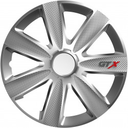 Poklice GTX Carbon silver 15 sada 4ks