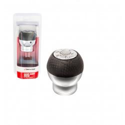 Rukojeť řadící páky černý karbon-stříbrná