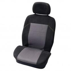 Potahy sedadel Suede černé přední