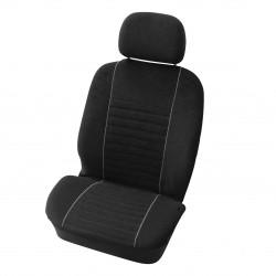 Potahy sedadel Velours černé/šedé přední