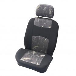 Potahy sedadel Classic černé/šedé přední