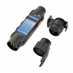 Tester zásuvky přívěsů tažného LED 3v1