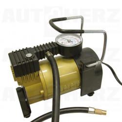 Kompresor 12V 7bar s měřičem tlaku celokovový