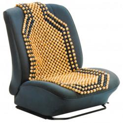 Potah na sedadlo kuličkový masážní - přírodní dřevo