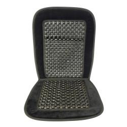 Potah na sedadlo kuličkový masážní - černý lemovaný