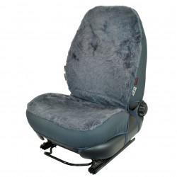 Potah na jedno sedadlo - ovčí vlna šedá