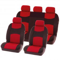 Potahy sedadel na celé vozidlo - Chicago červené - sada 9 dílů