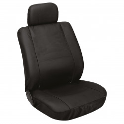 Potahy sedadel na celé vozidlo - imitace kůže černé - sada 8 dílů