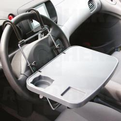 Multifunkční podložka / držák na notebook - na volant a opěrky hlavy