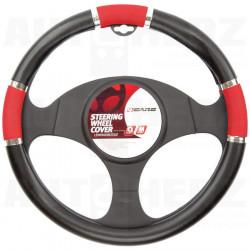 Potah volantu 37-39cm - černý / červený