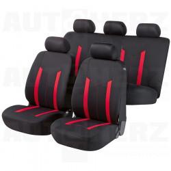 Potahy sedadel na celé vozidlo - Hastings červené / černé