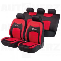 Potahy sedadel na celé vozidlo - RS Racing červené / černé