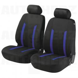 Potahy sedadel na přední sedadla - Hasting Zipp-it modré / černé