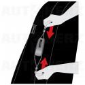 Potahy sedadel na přední sedadla - Kent Zipp-it červené / černé