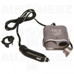 Rozdvojka do zapalovače 12V - s kabelem Lux 10A