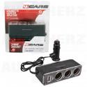 Roztrojka do zapalovače 12V / 24V - s kabelem a USB