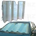 Sluneční clona na přední okno aluminium / stínítko - velikost XL