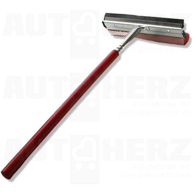 Stěrka na okna s dřevěnou rukojetí 20cm - červená
